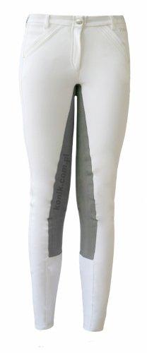 Bryczesy Pikeur MALISHA CONTRAST Premium 2015 - białe z szarym lejem