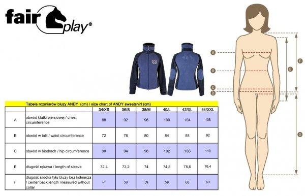 Bluza damska z polaru ANDY - FAIR PLAY