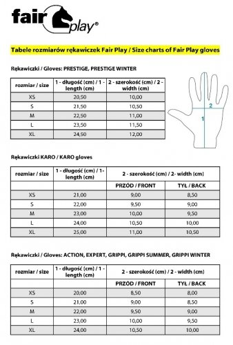 Rękawiczki Fair Play GRIPPI SUMMER