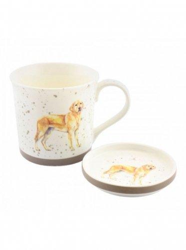 Kubek Golden Labrador ze spodeczkiem - GRAY'S