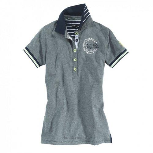 Koszulka damska polo PHILINE grey melange - Euro-Star