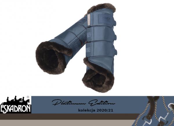 Ochraniacze z futerkiem SOFTSLATE PLATINUM EDITION 2020/21 - Eskadron - vintage