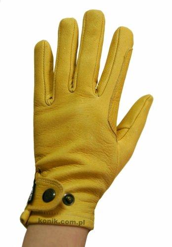 Rękawiczki ze skóry licowej z jelenia - KENIG