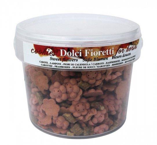Cukierki dla konia DOLCI FIORETTI marchew malina nagietek wiaderko 1,5kg - OFFICINALIS