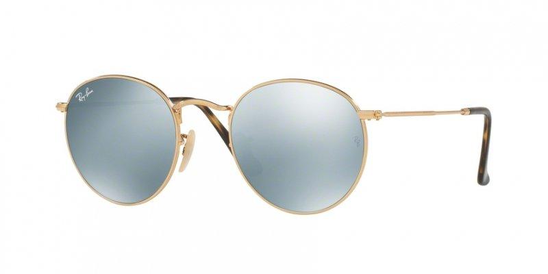 Okulary przeciwsłoneczne Ray Ban® 3447N 001 50 Round Metal