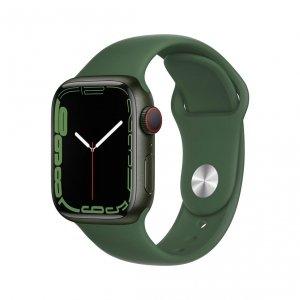 Apple Watch Series 7 41mm GPS + Cellular (LTE) Koperta z aluminium w kolorze zielonym z paskiem sportowym w kolorze koniczyny