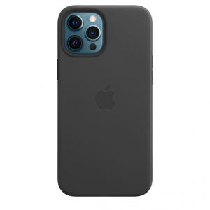 Apple Skórzane etui z MagSafe do iPhone'a 12 Pro Max – czarne