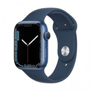 Apple Watch Series 7 45mm GPS Koperta z aluminium w kolorze niebieskim z paskiem sportowym w kolorze błękitnej toni