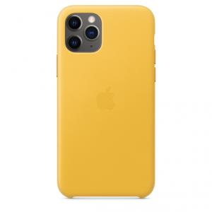 Apple Skórzane etui do iPhone'a 11 Pro – soczysta cytryna