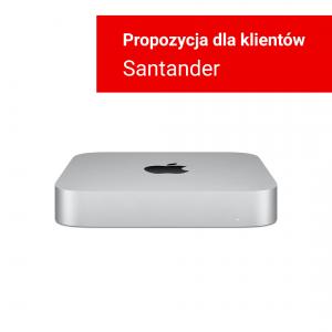 Mac mini z Procesorem Apple M1 - 8-core CPU + 8-core GPU /  8GB RAM / 256GB SSD / Gigabit Ethernet / Silver (srebrny) 2020 - nowy model - Strefa Santander