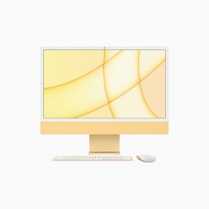 Apple iMac 24 4,5K Retina M1 8-core CPU + 8-core GPU / 8GB / 256GB SSD / Gigabit Ethernet / Żółty (Yellow) - 2021