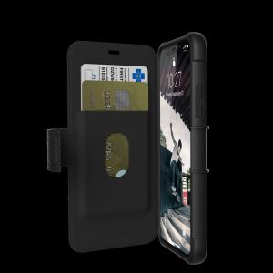 UAG Metropolis - obudowa ochronna z klapką do iPhone X (czarna)