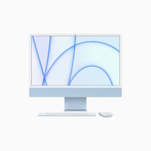 Apple iMac 24 4,5K Retina M1 8-core CPU + 8-core GPU / 8GB / 512GB SSD / Gigabit Ethernet / Niebieski (Blue) - 2021