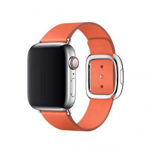 Apple pasek z klamrą nowoczesną w kolorze oranżu do Apple Watch 38/40 mm - Rozmiar S