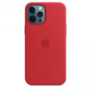 Apple Silikonowe etui z MagSafe do iPhone'a 12 Pro Max – (PRODUCT)RED