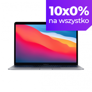 MacBook Air z Procesorem Apple M1 - 8-core CPU + 7-core GPU /  8GB RAM / 512GB SSD / 2 x Thunderbolt / Space Gray