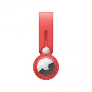 Apple Pasek skórzany do AirTaga - (PRODUCT)RED
