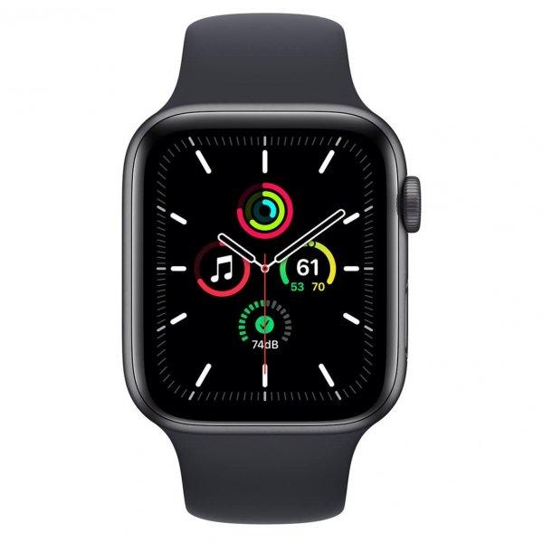 Apple Watch SE 44mm GPS Aluminium w kolorze gwiezdnej szarości z paskiem sportowym w kolorze północy