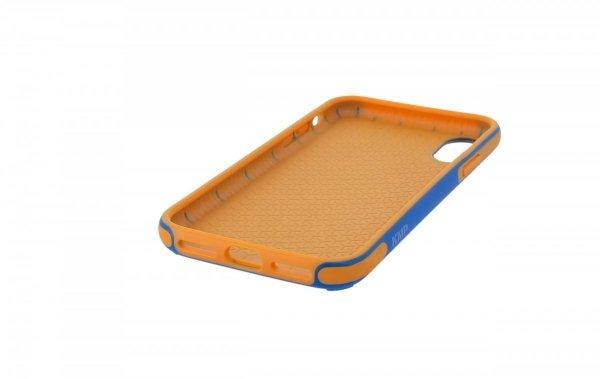 KMP Etui sportowe do iPhone X (niebieski/pomarańczowy)