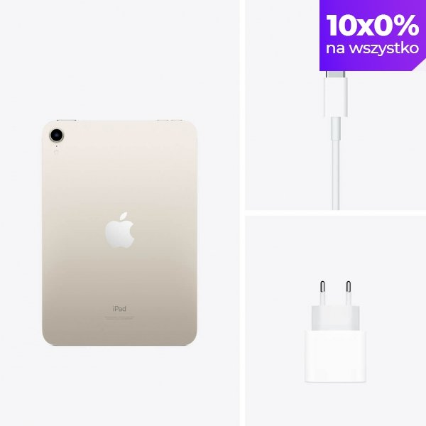 """Apple iPad mini 6 8,3"""" 64GB Wi-Fi Księżycowa poświata (Starlight)"""