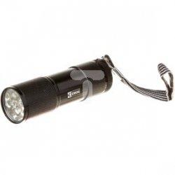 Latarka metalowa LED 70lm 3xAAA czarna P3840