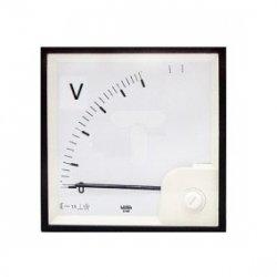 Woltomierz analogowy 72x72 500V kl.1,5 IP52 VAE0720151000