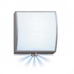 Oprawa LED z czujnikiem ruchu 8 metrów 360 stopni 8W 140lm ciepło-biała barwa 230-240V IP44 alu-antracyt PIR L 676 LED A 581916