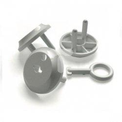 Zatyczka gniazda /zabezpieczeni przed dziećmi/ z kluczem biała ZG-1