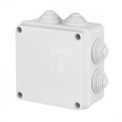 INDUSTRIAL Puszka hermetyczna n/t 102x102x47mm IP65 z 7 dławicami PS szara 2728-00