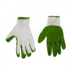Rękawice robocze, dzianina bawełniana powlekana gumą, dwie warstwy, 9cala 83S208
