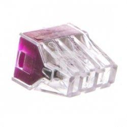 Szybkozłącza 6 pinów fioletowa 24A 240/415V AC 1,0-2,5 mm2 /8szt./ LZ-CMK106-FL