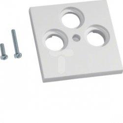 Płytka centralna BK/Sat 3-krotna ABS bezhalogenowe (HFR) biel GZSAT39010