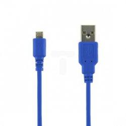 Kabel transmisja i ładowanie micro USB 1.0m niebieski 07949-OEM
