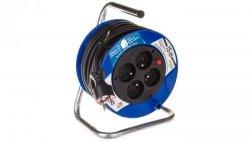 Przedłużacz bębnowy Kompakt 15m 4x230V czarny H05VV-F 3G1,5 1079184004