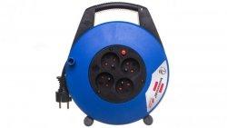 Przedłużacz zwijany kompaktowy Vario Line 4x230V 10m czarno-niebieski H05VV-F 3G1,5 22,5x27x8cm 1104464