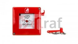 Przyciskppoż.natynkowy1Z1Rczerwonyzmłotkiem230V ACIP55 W0-ROP-AM2K XY
