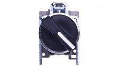 Przełącznik 2 położeniowy pokrętło 22mm czarny 1Z z samopowrotem XB4BD41