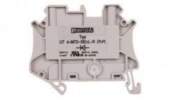 Złączka szynowa elementów kontrolnych 2-przewodowa 4mm2 szara UT 4-MTD-DIO/L-R 3046210