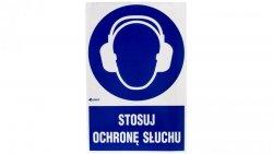Tabliczka ostrzegawcza /Stosuj ochronę słuchu z podpisem/ IM/003/1/C1/F