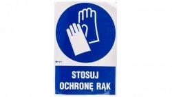 Tabliczka ostrzegawcza /Stosuj ochronę rąk z podpisem/ IM/009/1/C1/F