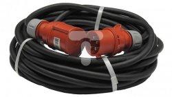 Przedłużacz budowlany trójfazowy elCORD CEE 32A 400V IP44 30m H07RN-F 5G4 (gumowy OPD) z wtyczką i gniazdem CEE 32A-5P IP44