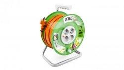 Przedłużacz bębnowy STANDARD LINE 15m H05VV-F 3x1 4xGS /+ termik/ 10A pomarańczowy