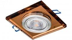 Oprawa szklana GLASSO-K-A kwadrat amber / bursztyn 90x8 halogenowa wpuszczana - 1szt LUX06746