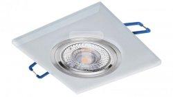 Oprawa szklana GLASSO-K-F kwadrat frost / szron 90x8 halogenowa wpuszczana - 1szt LUX06747