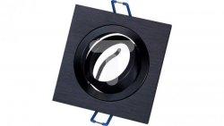 Oprawa aluminiowa JOTA K/1 drapana czarna + czarny pierścień wewnętrzny halogenowa wpuszczana regulowana - 1szt LUX06763