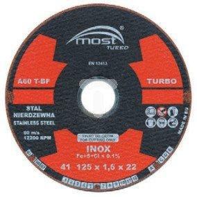 Tarcza do cięcia stali nierdzewnej 125x1,6x22mm Turbo INOX 94-14-125160