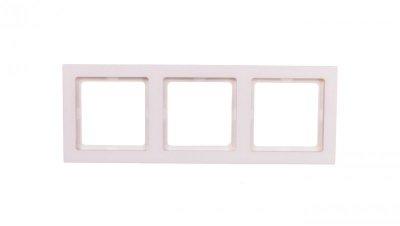 Berker Q.3 Ramka potrójna biały, aksamit 10136099