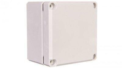Obudowa Cubo D 80x82x56mm IP67 boki gładkie pokrywa szara PC DPCP080806G
