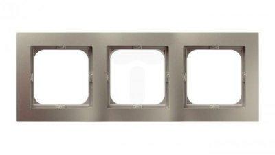 AS Ramka potrójna satyna light R-3G/45