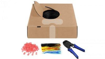 Zestaw Kabel teleinformatyczny zewnętrzny U/UTP kat.6 4x2xAWG24 /+ szczypce,opaski, wtyki RJ/ /100m/ 55440
